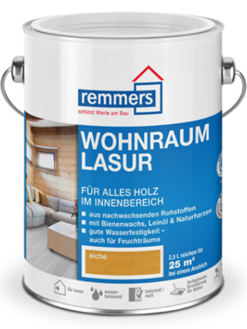 Remmers Wohnraum-Lasur / Реммерс Вунраум восковая лазурь на основе пчелиного воска