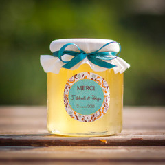 Набор бонбоньерок с медом на свадьбу, 250 грамм+140 грамм