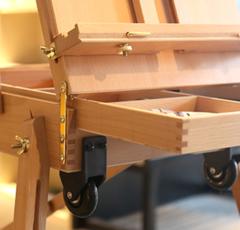 Этюдник Stationery на колесиках и с выдвижной ручкой