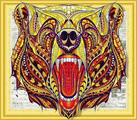 Алмазная Мозаика 5D 40x50 Цветной медведь