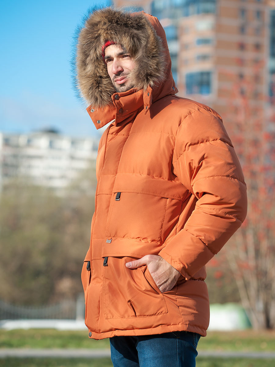 Joutsen пуховик Arctic жженый апельсин