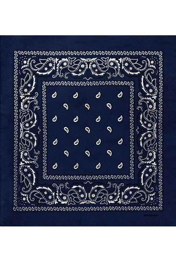 Темно-синяя бандана пейсли фото