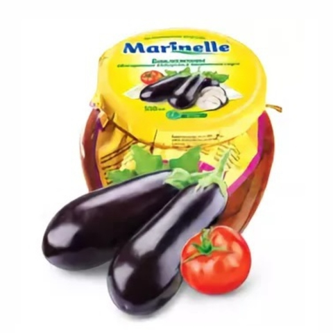 Баклажаны MARINELLE обжарен с томатом и чесноком в масле 500 мл ст/б УЗБЕКИСТАН