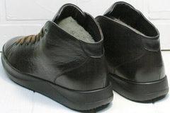 Коричневые ботинки кеды кожаные мужские Ikoc 1770-5 B-Brown.