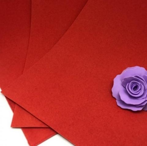 Фоамиран бархатный. Цвет: Красный 010