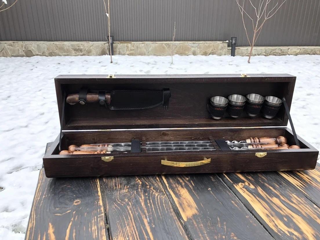 """Шампуры в кейсе Набор шампуров в деревянной коробке """"Малый"""" №5 _MP5cV_Fou4.jpg"""