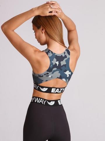 Спортивное бра женское для йоги и фитнеса  Military