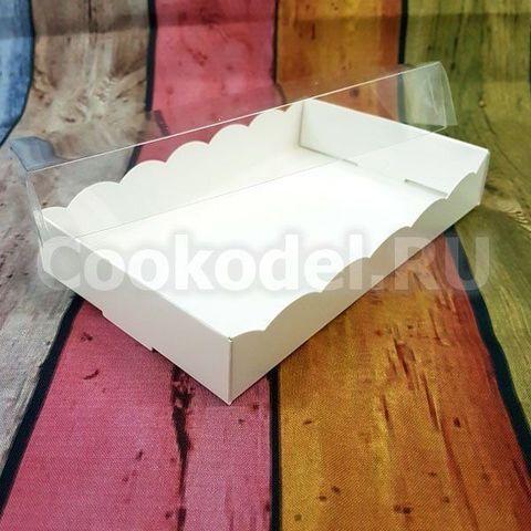 Коробка для пряников Ажурная Белая 18х11х3 см