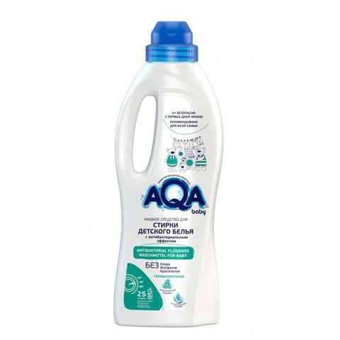 AQA BABY. Жидкое средство для стирки детского белья с антибактериальным эффектом, 1000 мл