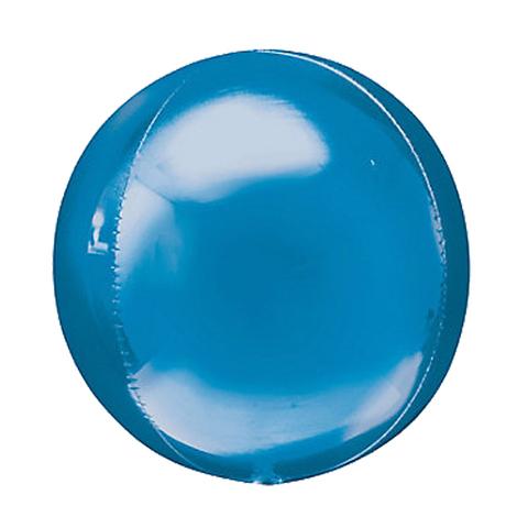 Шар-сфера 3D металлик синий, 51 см