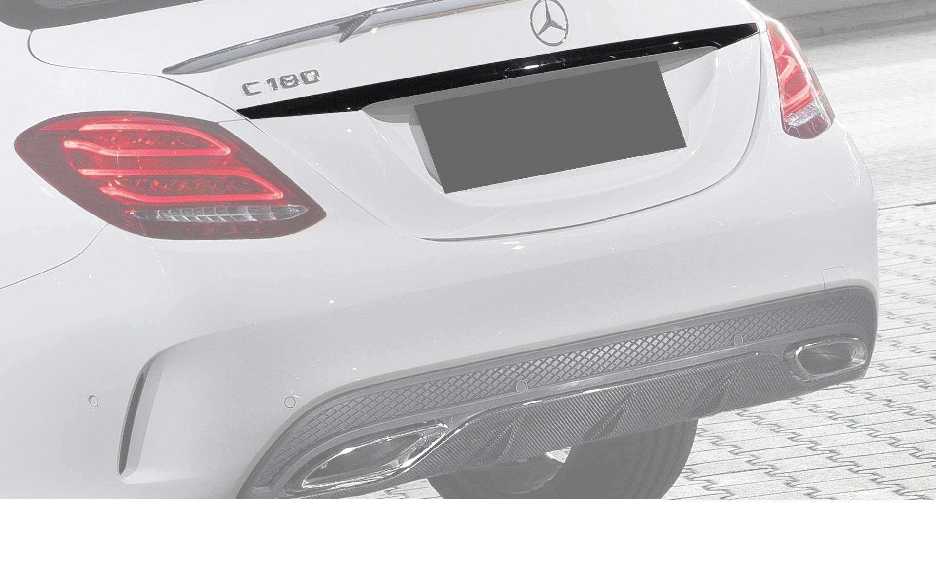 Карбоновая накладка на багажник над номером Brabus Style для Mercedes С-class W205