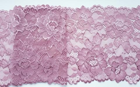 Эластичное кружево, пыльно розовый, 19 см