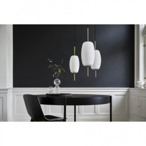 Лампа подвесная Silk, D20 см, белое опаловое стекло