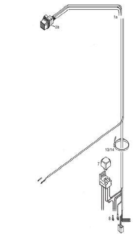 Проводка Eberspacher Hydronic 10 24V квадратный разьем(жгут основной)