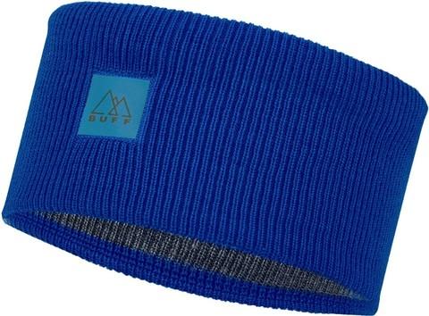 Повязка Buff Crossknit Headband Solid Azure Blue фото 1