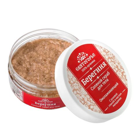 Соляной скраб для тела «Берегиня» С розовой глиной и маслом макадамии. Омолаживающий Вес 170±5 г ТМ Святогорье