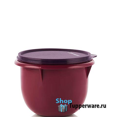 Замесочное блюдо 1л в бордовом цвете