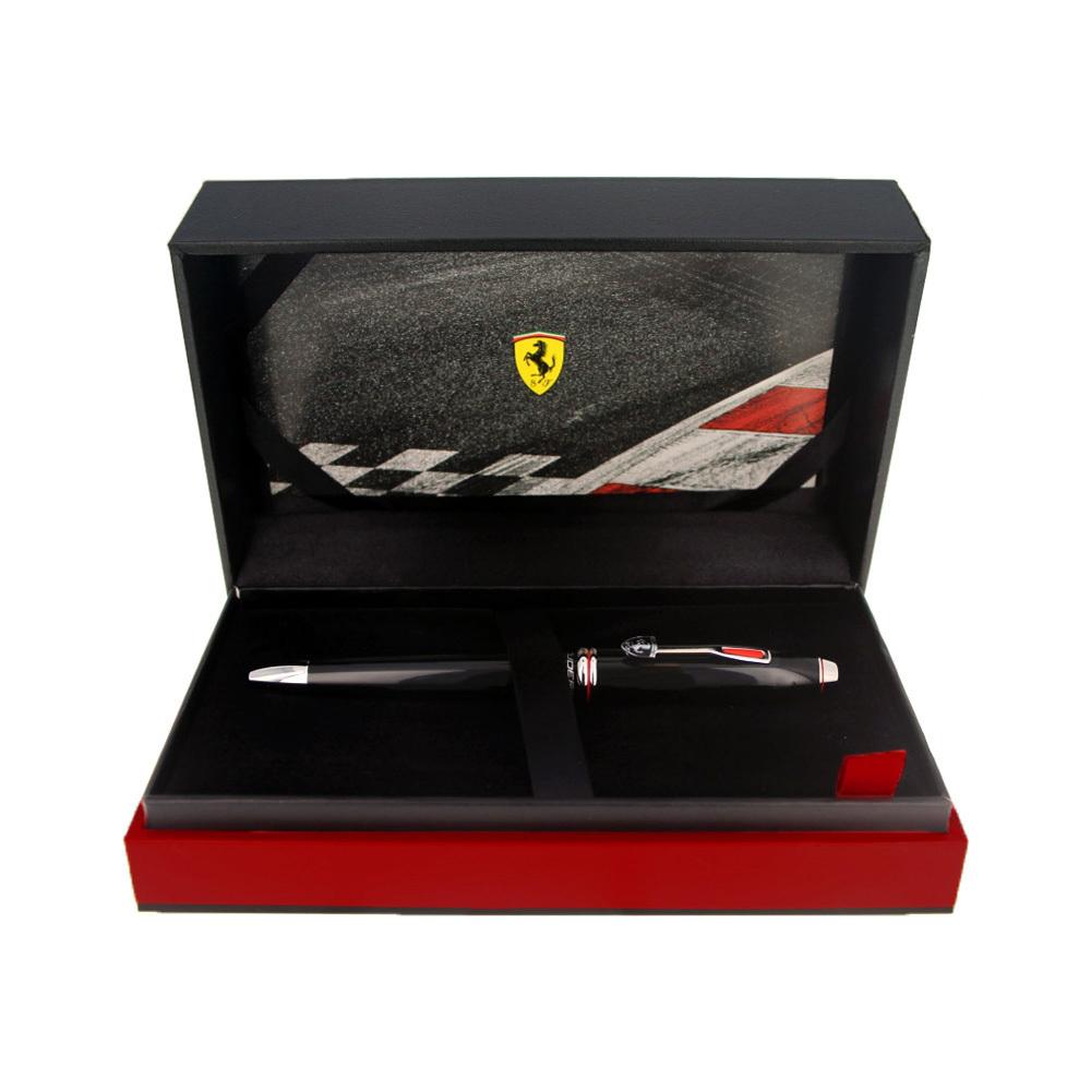 Cross Townsend - Ferrari Glossy Black Lacquer/Rhodium, латунь, шариковая ручка