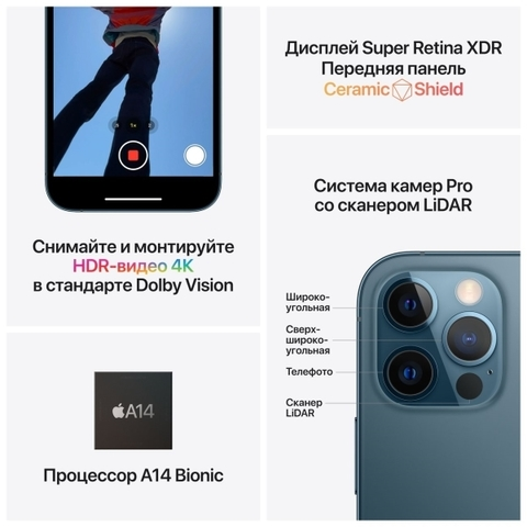 Купить iPhone 12 Pro 128Gb Blue в Перми