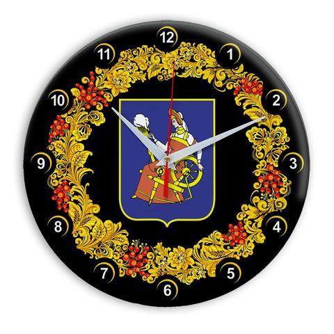 Часы в стиле Хохлома сувенирные Иваново 03