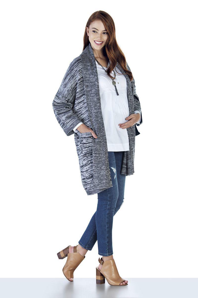 Кардиган для беременных 07815 серый