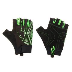 Велоперчатки JAFFSON SCG 46-0336 (чёрный/зелёный)