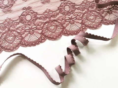 _Отделочная резинка с фестонами, 12 мм, кофейно-розовый (Арт: OTR635/12-885), м