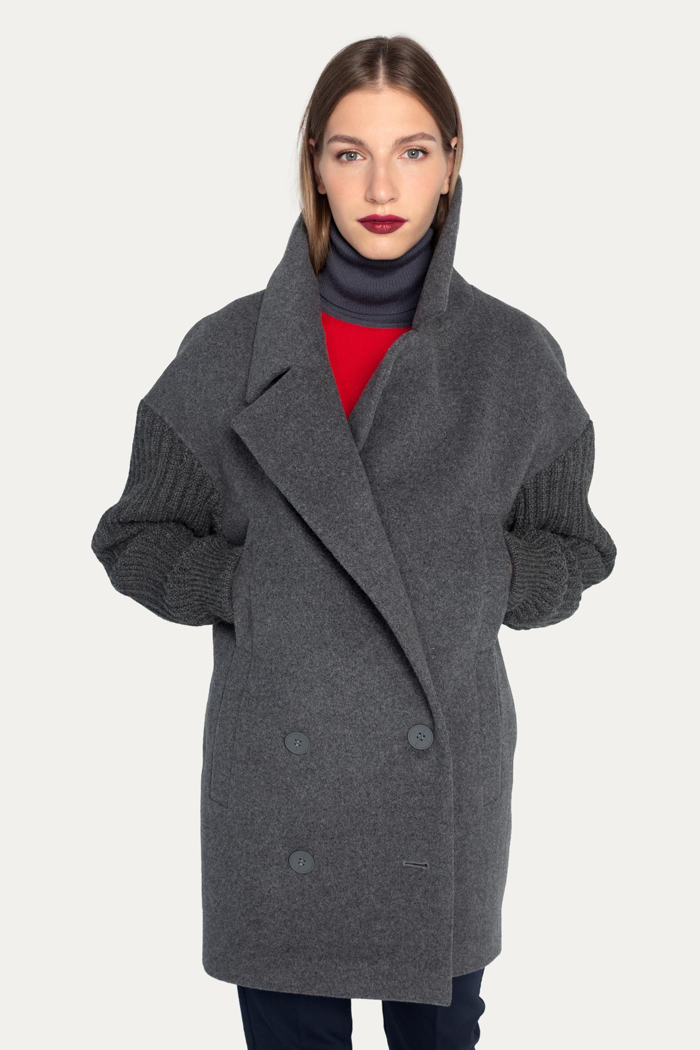 Пальто PROTECT с вязанными рукавами