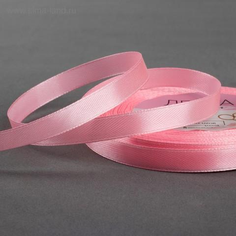 Лента атласная цвет розовый,10мм*23±1м