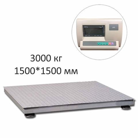 Весы платформенные ГАРАНТ ВПН-3000М, LCD, АКБ, 3000кг, 1000гр, 1500*1500, без стойки, выносной дисплей