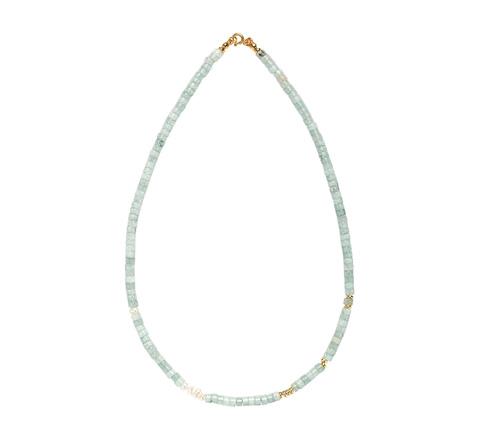 Ожерелье из мятного кварца