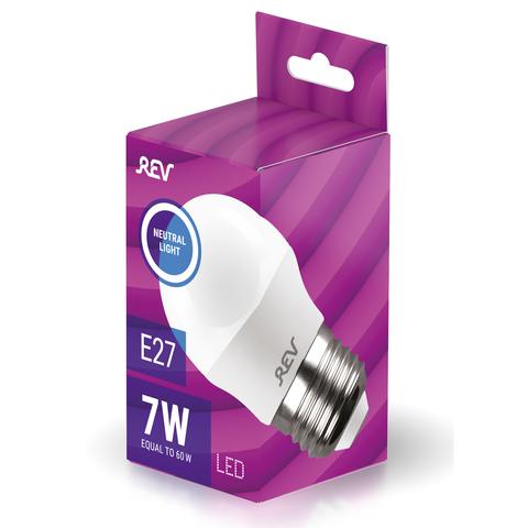 Лампа светодиодная Rev 7W G45 Е27 4000K шар 32343 3