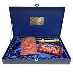 """Подарочный набор """"Кнут и пряник"""", (дерево,бронза) (3 предмета, с книгой)"""
