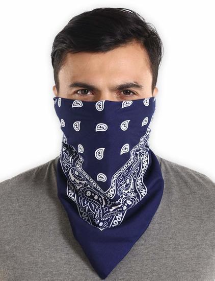 Темно-синяя бандана на лицо фото