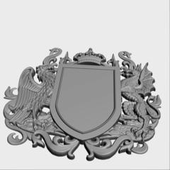 Силиконовый молд № 455 Герб фамильный