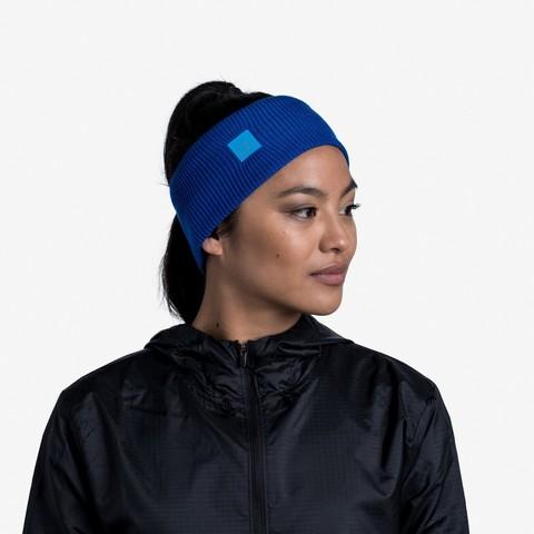 Повязка Buff Crossknit Headband Solid Azure Blue фото 2