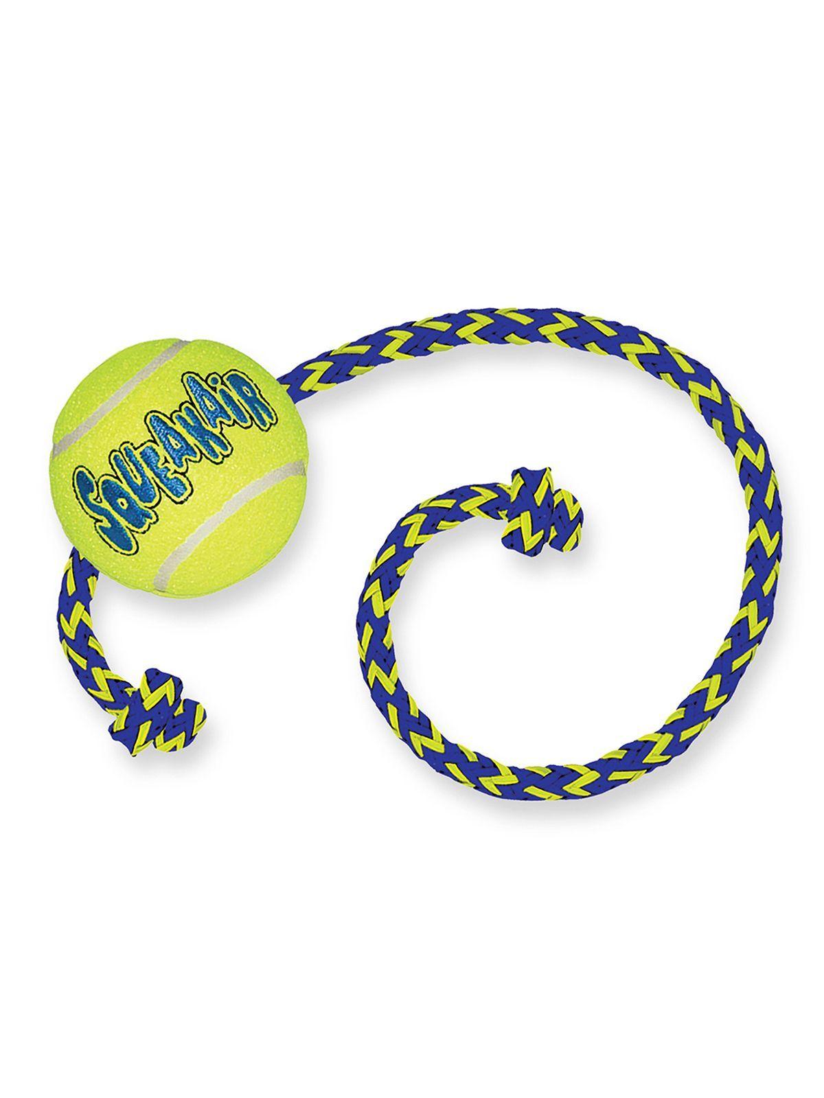 """Игрушки Игрушка для собак KONG  Air """"Теннисный мяч"""" с канатом средний AST21_1.jpeg"""