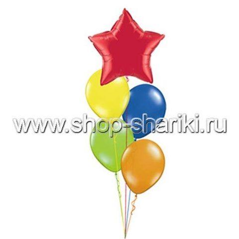 shop-shariki.ru фонтан из гелиевых шаров со звездой