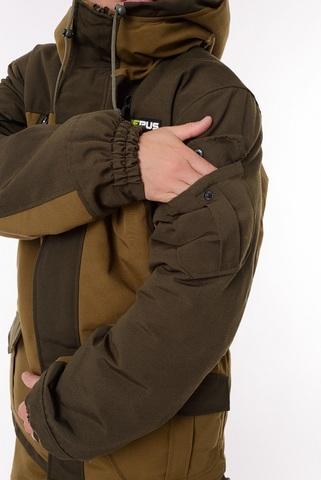 Костюм Горный зимний с полукомбинезоном (Брезент/Хаки) -45 OneRus