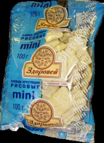 Хлебцы Здоровей МИНИ Рисовые б/глютена 100г