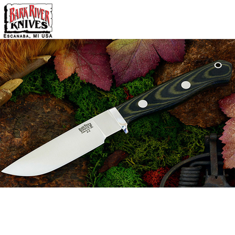 Нож Bark River модель Gameskeeper Black & Green Linen Micarta