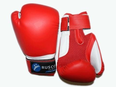 Перчатки боксёрские RUSCOsport, красные, 4 Oz: К-4