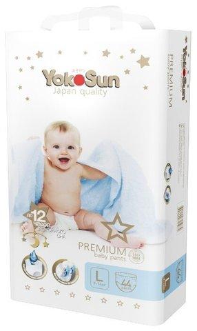 Трусики YokoSun Premium L 9-14 кг 44 шт