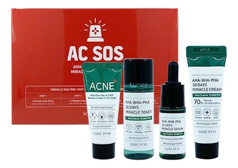 Набор для проблемной кожи AHA/BHA/PHA 30 DAYS MIRACLE AC SOS KIT 4