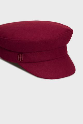 Женское бордовое кепи TH FEMININE BAKER BOY Tommy Hilfiger