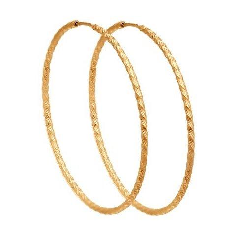 140156 - Серьги-конго рифленые  из золота