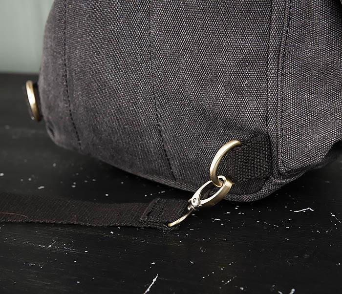 BAG394-1 Черный компактный рюкзак с одной лямкой через плечо фото 09