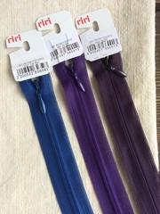 Молния потайная Т3, Riri, 22см, фиолетовый
