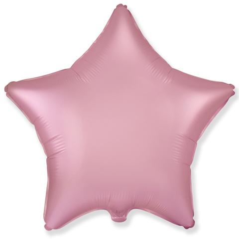 Шар звезда Сатин Розовый, 45 см