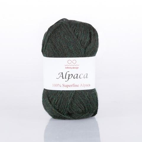 Пряжа Infinity Alpaca 0847 темно-изумрудный меланж